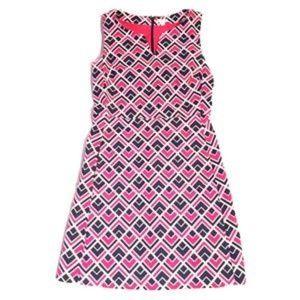 Gap Marcy Dobby Geo Print Shift Dress Size 14
